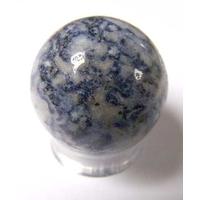 Boule de massage en Sodalite de 3cm avec support plexi