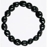 Bracelet pierres roulées en Tourmaline noire