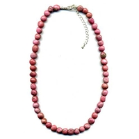 Collier Rhodonite pierres roulées