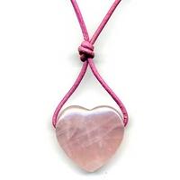 Coeur et bien-être Quartz rose  20 x 25 mm