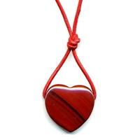 Coeur et bien-être Jaspe rouge  20 x 25 mm