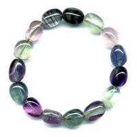 Bracelet pierres roulées en fluorine XL