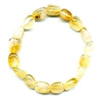 Bracelet pierres roulées en citrine