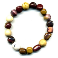 Bracelet pierres roulées en mokaïte