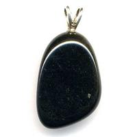 Pendentif Obsidienne dorée Extra bélière argent