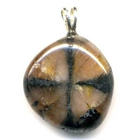 Pendentif Andalousite (Chiastolite) Extra Bélière argent