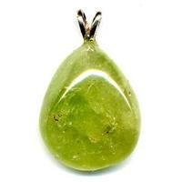 Pendentif Calcite verte Extra bélière argent