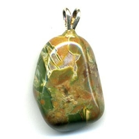 Pendentif Rhyolite Extra Bélière argent