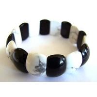 Bracelet Fingernail en Howlite et Onyx