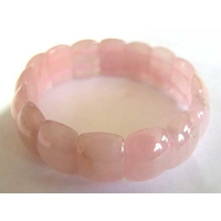 Bracelet Fingernail en Quartz rose