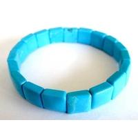 Bracelet Square en Howlite turquoise