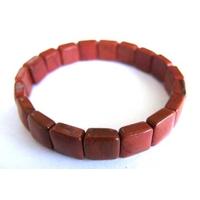 Bracelet Square en Jaspe rouge