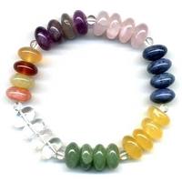 Bracelet Disque en 7 Chakras