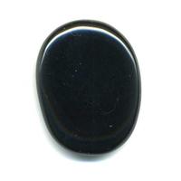 Mini Pierre plate en obsidienne noire