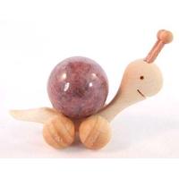 Boule de massage 2 cm en Rhodonite support escargot