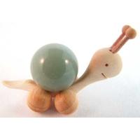Boule de massage 2 cm en Aventurine  support escargot