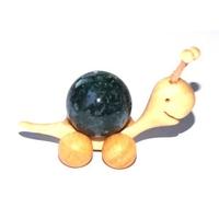 Boule de massage 2 cm en Agate mousse  support escargot