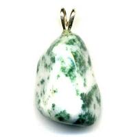 Pendentif Agate arbre Extra avec Bélière argent