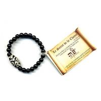 Bracelet DZI en Onyx