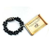Bracelet DZI en Onyx double
