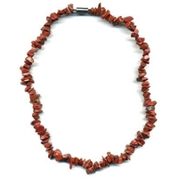Collier Jaspe rouge 45 cm baroque