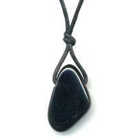 Pendentif Obsidienne oeil céleste avec cordon