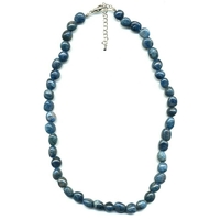 Collier Apatite Bleue pierres roulées