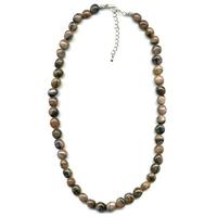 Collier Andalousite/Chiastolite pierres roulées