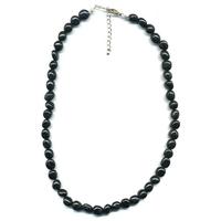 Collier Tourmaline Noire pierres roulées
