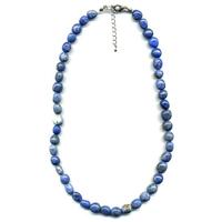 Collier Lapis lazuli pierres roulées