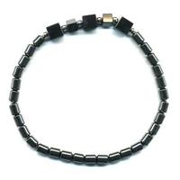 Bracelet Hématite cinq cabochons