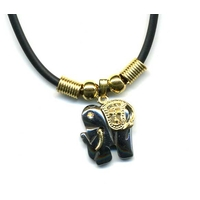 Collier mini hematite Elephant