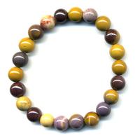 Bracelet en mokaite boules 8mm