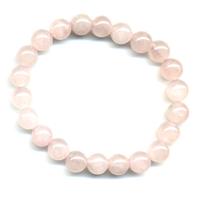 Bracelet en quartz rose boules 8mm
