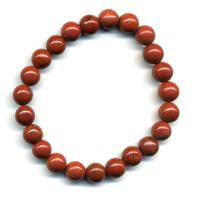 Bracelet en jaspe rouge boules 8mm