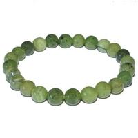 Bracelet en jade néphrite boules 8mm