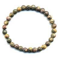 Bracelet en jaspe léopard boules 6mm