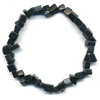 Bracelet baroque agate noire