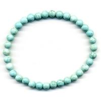 Bracelet Howlite Turquoise boules 6mm