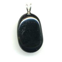 Pendentif tourmaline noire EXTRA avec Bélière Argent