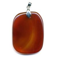 Cornaline pierre plate en Pendentif Choix B