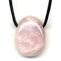 Pendentif quartz rose avec cordon