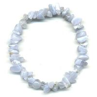 Bracelet baroque Agate blue Lace