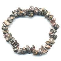 Bracelet baroque Jaspe léopard