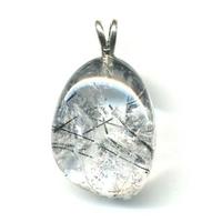 Pendentif quartz tourmaline Extra avec Bélière argent