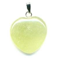 Pendentif Jade de Chine 20mm en Coeur
