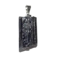 Pendentif tourmaline noire pierre brute