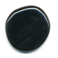 mini pierre plate en obsidienne oeil céleste
