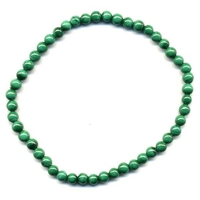 Bracelet Malachite boules 4mm