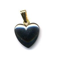 Pendentif Hématite 12mm en Petit Coeur